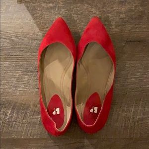 BP pointy toe suede flats